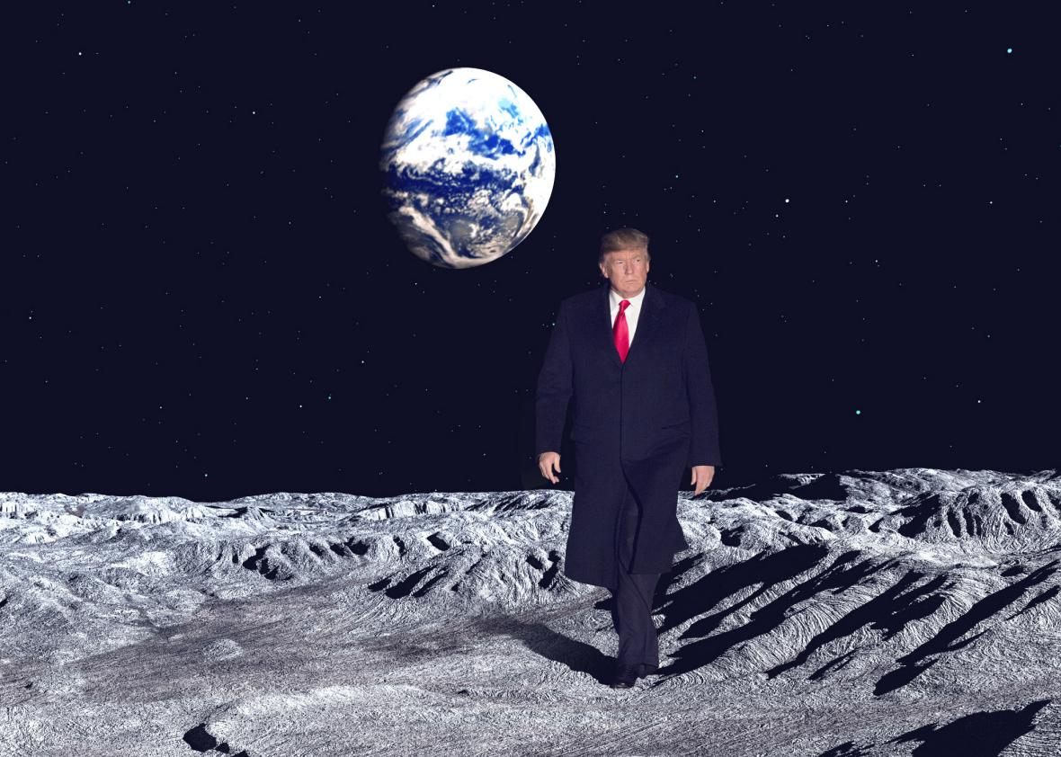 Trump to send astronauts back to the Moon -- and eventually Mars