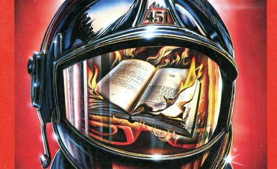 image of firefighter helmet with burning books reflected