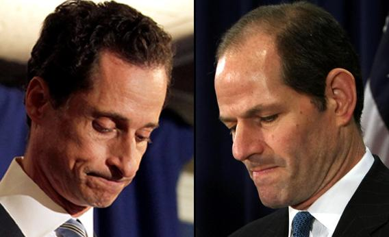 Anthony Weiner and Eliot Spitzer.