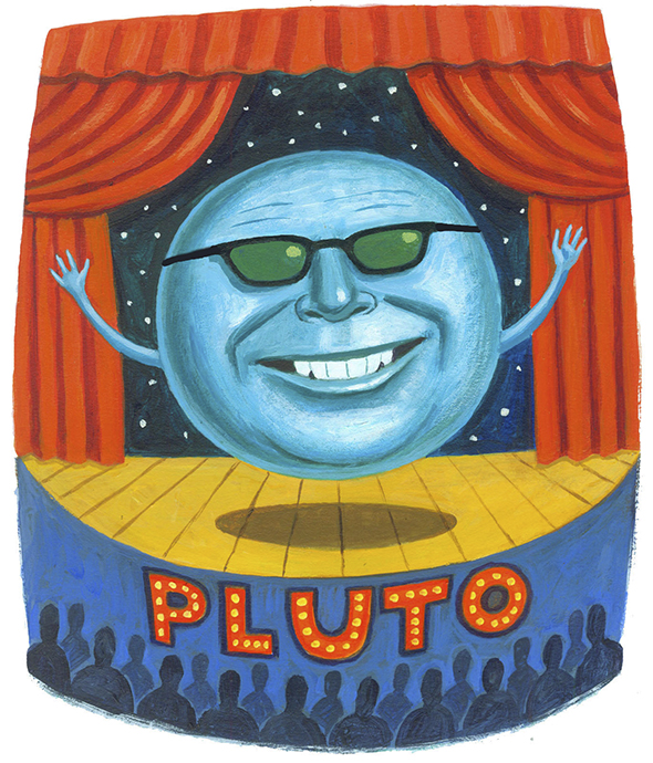 Pluto! Illustration by Charlie Powell