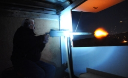 Night shooting at the Big Sandy Machine Gun Shoot in March.