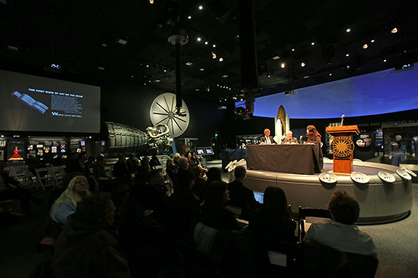 Van Hoeydonck at the Air and Space Museum's new Moving Beyond Earth gallery, Dec. 12, 2013.