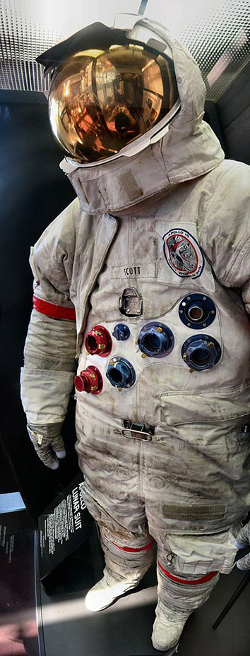 Space Suit worn by David Scott during Apollo 15.