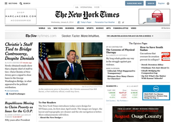 New york times website redesign reviewed for Home design articles