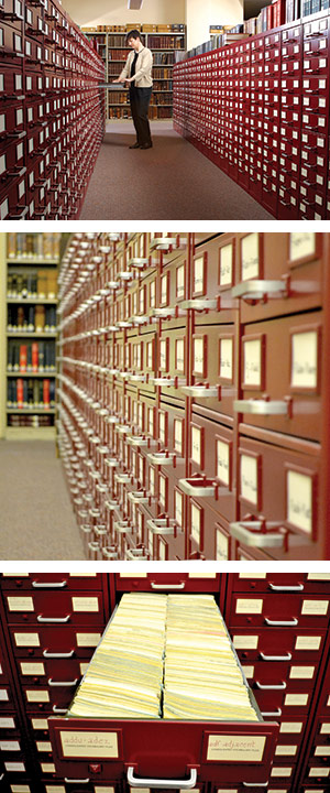 Merriam-Webster's citation files, pictured in 2003