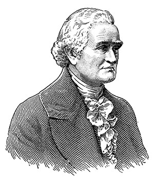 Noah Webster etching.