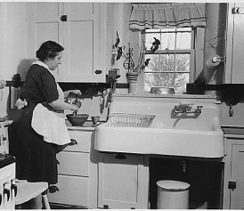 Small Old Kitchen lillian gilbreth's kitchen practical: how it reinvented the modern