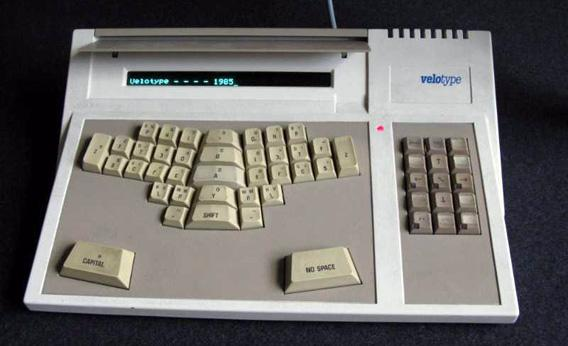 The electronic Velotype as produced in 1985.