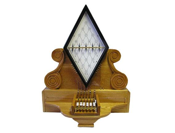 Replica of 1835 Cooke and Wheatstone Five-Needle Telegraph.