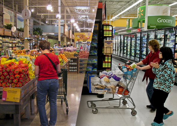 Whole Foods and Walmart: How many groceries sold at Walmart