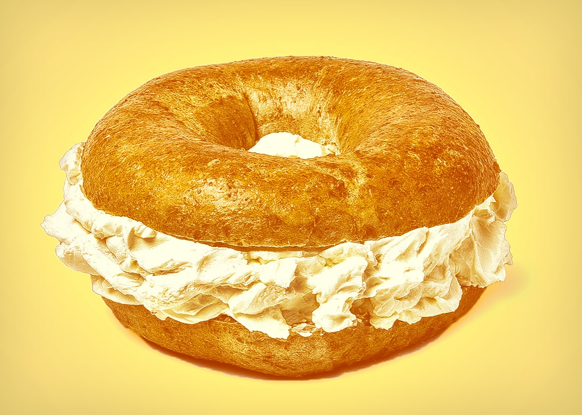 Why do bagel places serve too much cream cheese? The ...