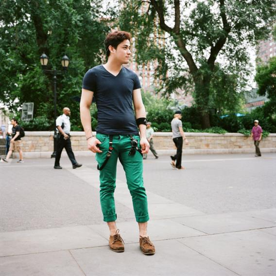 Why are so many men wearing green pants in 2013?