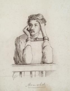 Wallace's sketch of Samual Arnold.