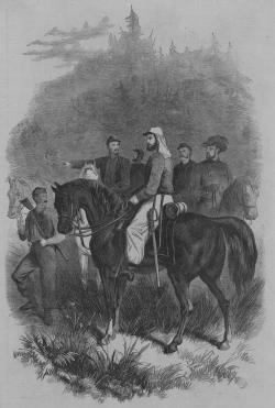 Lew Wallace in Zouave uniform, as depicted in Frank Leslie's Illustrated Weekly, August 1861.