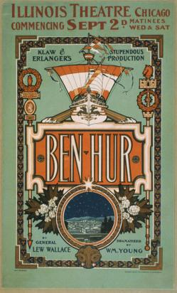 A poster for the stage adaptation of Ben-Hur.