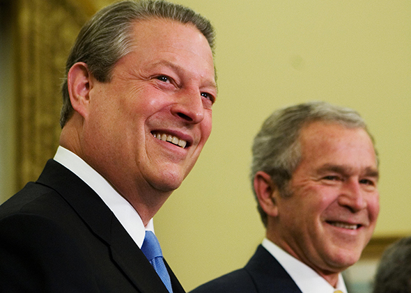 Gore and Bush.