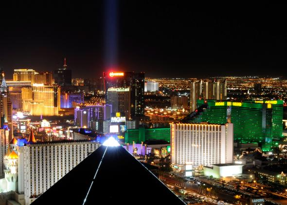 The Vegas Strip.