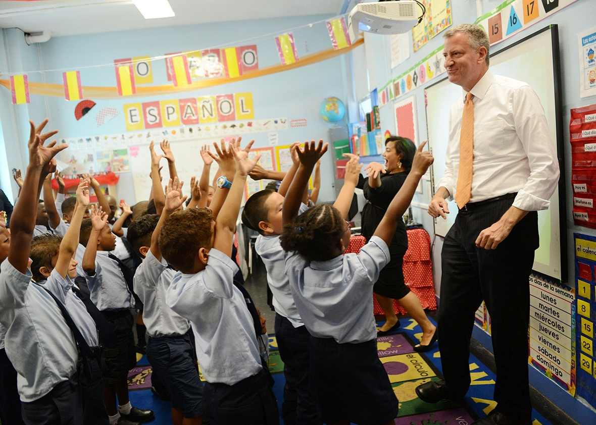 ... the first day of NYC public schools, Sept. 4, 2014, in New York City