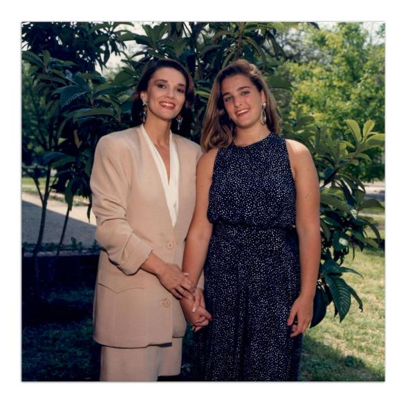 Marilyn Sage Meagher and her daughter Kelley Watts, 1990, about ,Marilyn Sage Meagher and her daughter Kelley Watts, 1990, about three years before Marilyn's death.