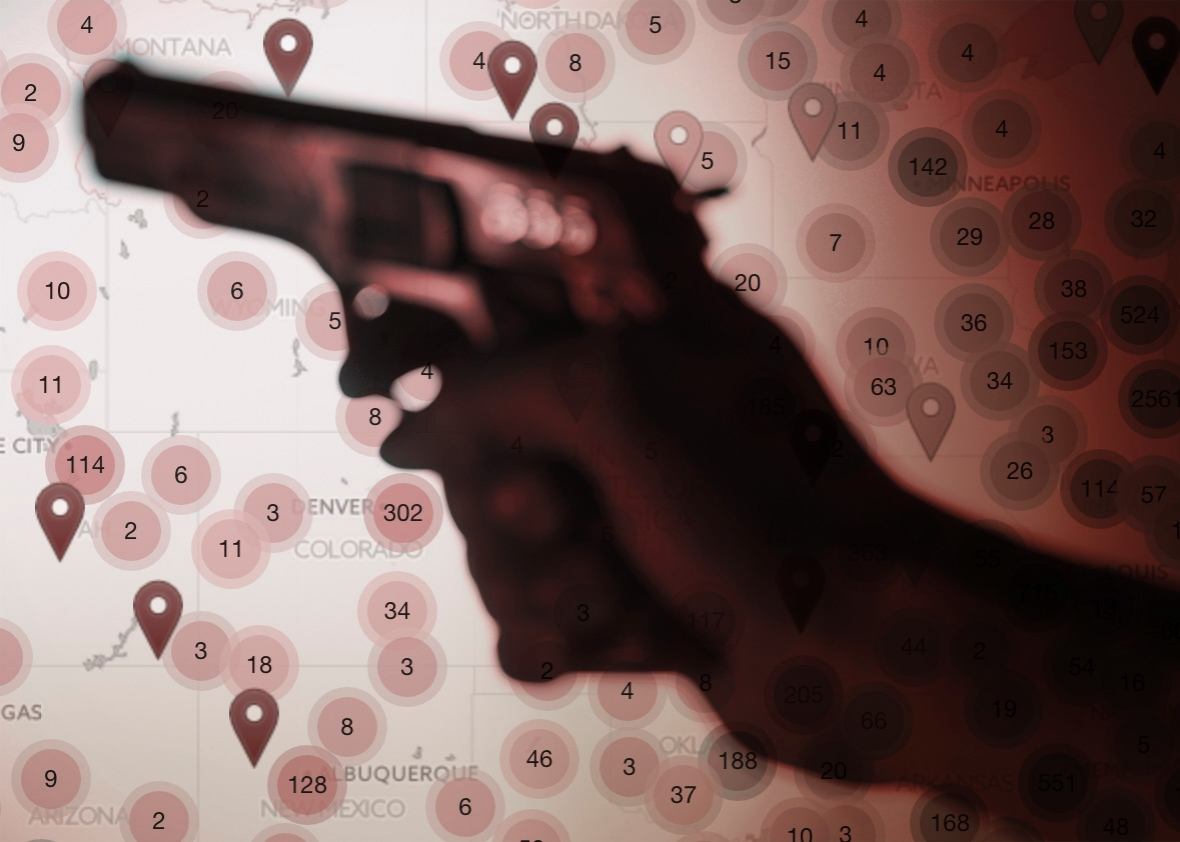 gun deaths map: how many people have died or been injured in