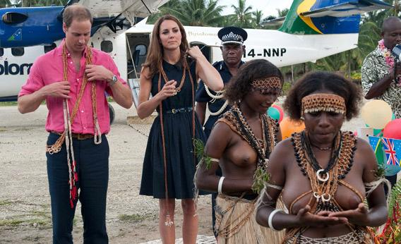 Prince William and Kate Middleton in Marau, Solomon Islands.
