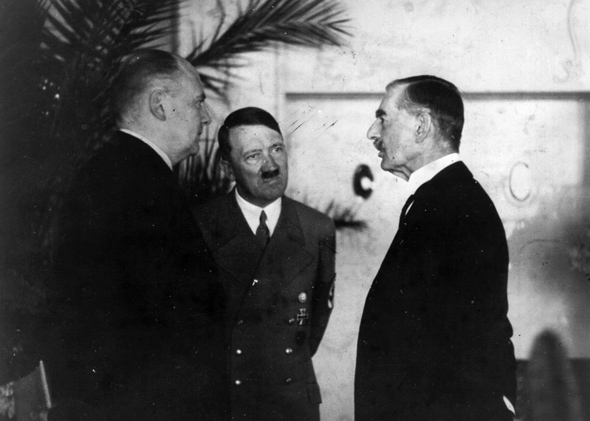 Neville chamberlain was right to cede czechoslovakia to adolf hitler hitlers interpreter paul schmidt conveying the fuhrers reply to a question from neville chamberlain during their platinumwayz