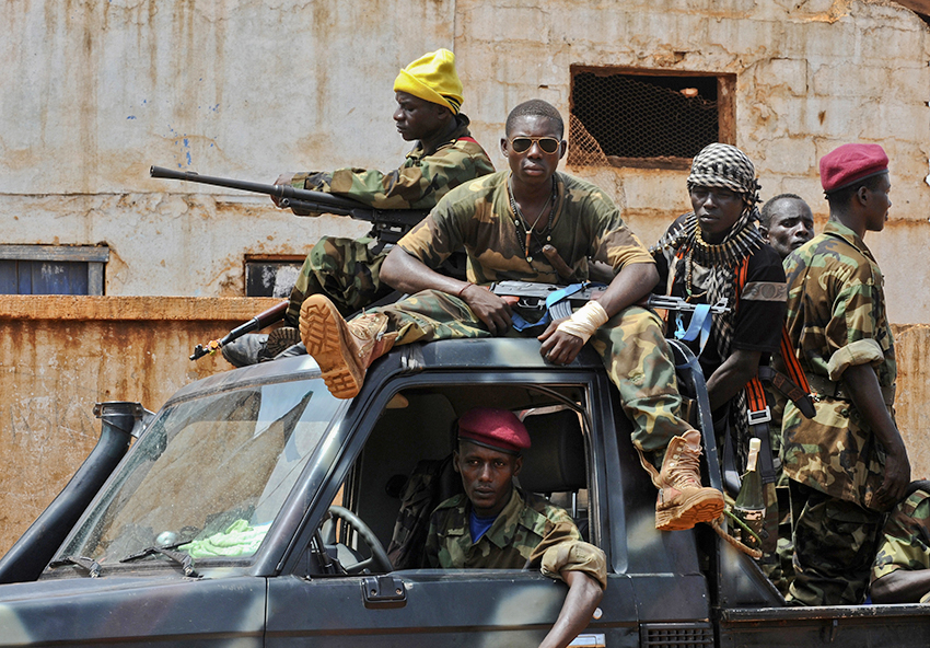 Seleka rebels, March 26, 2013.