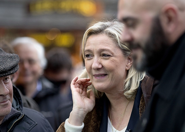 France's far-right National Front (FN) party leader Marine Le Pen.