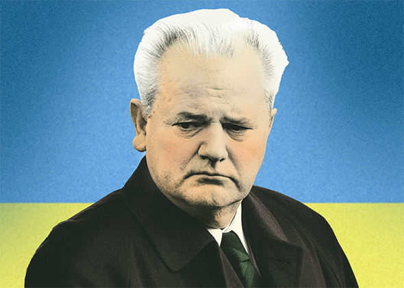 Slobodan Milosevic in the style of Monty Python.