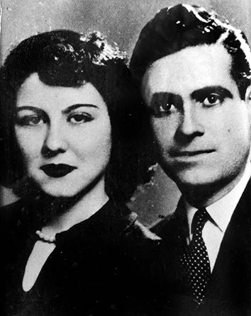 The author's grandmother and grandfather as newlyweds, Beirut, 1952.