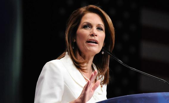 U.S. Representative Michele Bachmann addresses the American Conservative Union's annual Conservative Political Action Conference in Washington, February 9, 2012.