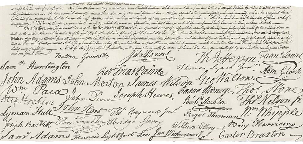 a history of declaration of independence New content is added regularly to the website, including online exhibitions, videos, lesson plans, and issues of the online journal history now, which features essays.