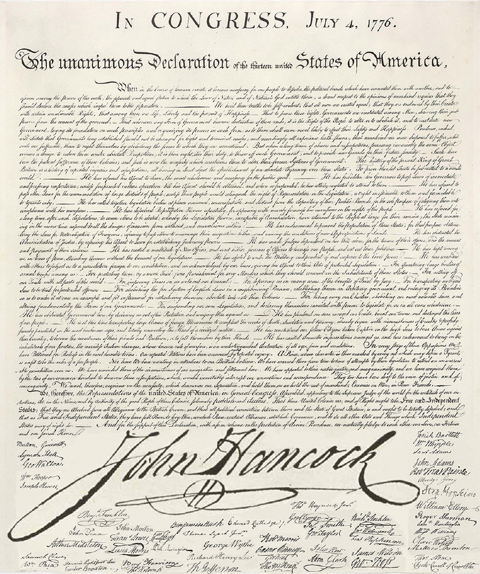 deceleration of independence letter essay