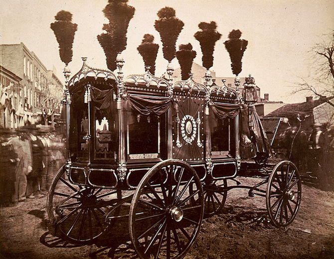 abraham lincoln s decaying corpse was sent on a two week funeral  president abraham lincoln rsquo s hearse in springfield illinois in 1865