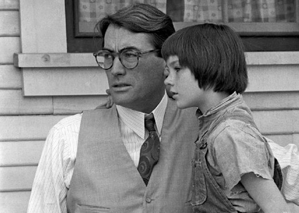 Gregory Peck portraying Atticus Finch in the 1962 film To Kill A Mockingbird