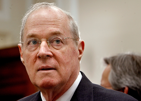Supreme Court Justice Anthony Kennedy, pictured on Capitol Hill in 2007, may have just discovered the cruelty of solitary confinement.