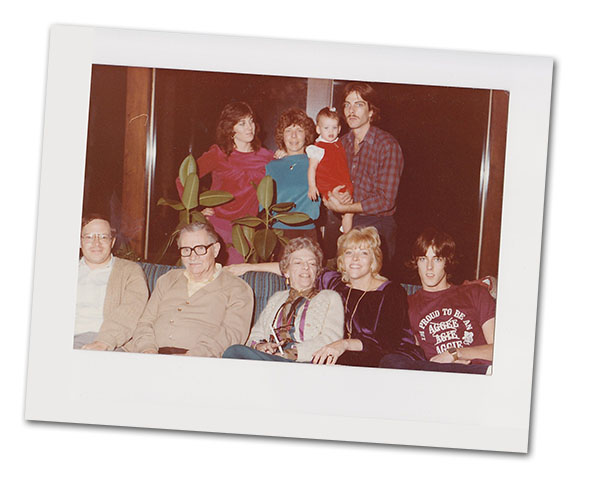 Cathy O'Daniel, top row left, and family. Linda White, second ,Cathy O'Daniel, top row left, and family. Linda White, second right to left, bottom row.