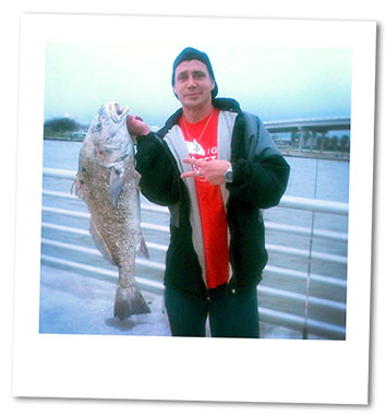 Gary Brown and a fish he caught soon after his release from pris