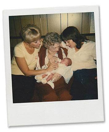 Linda White, her mother, holding Ami, Cathy O'Daniel's daugh,Linda White, her mother, holding Ami, Cathy O'Daniel's daughter.