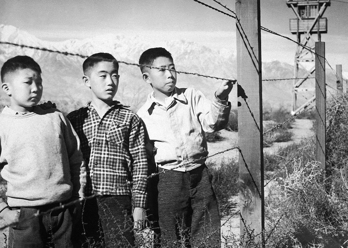 Japanese Americans at an internment camp