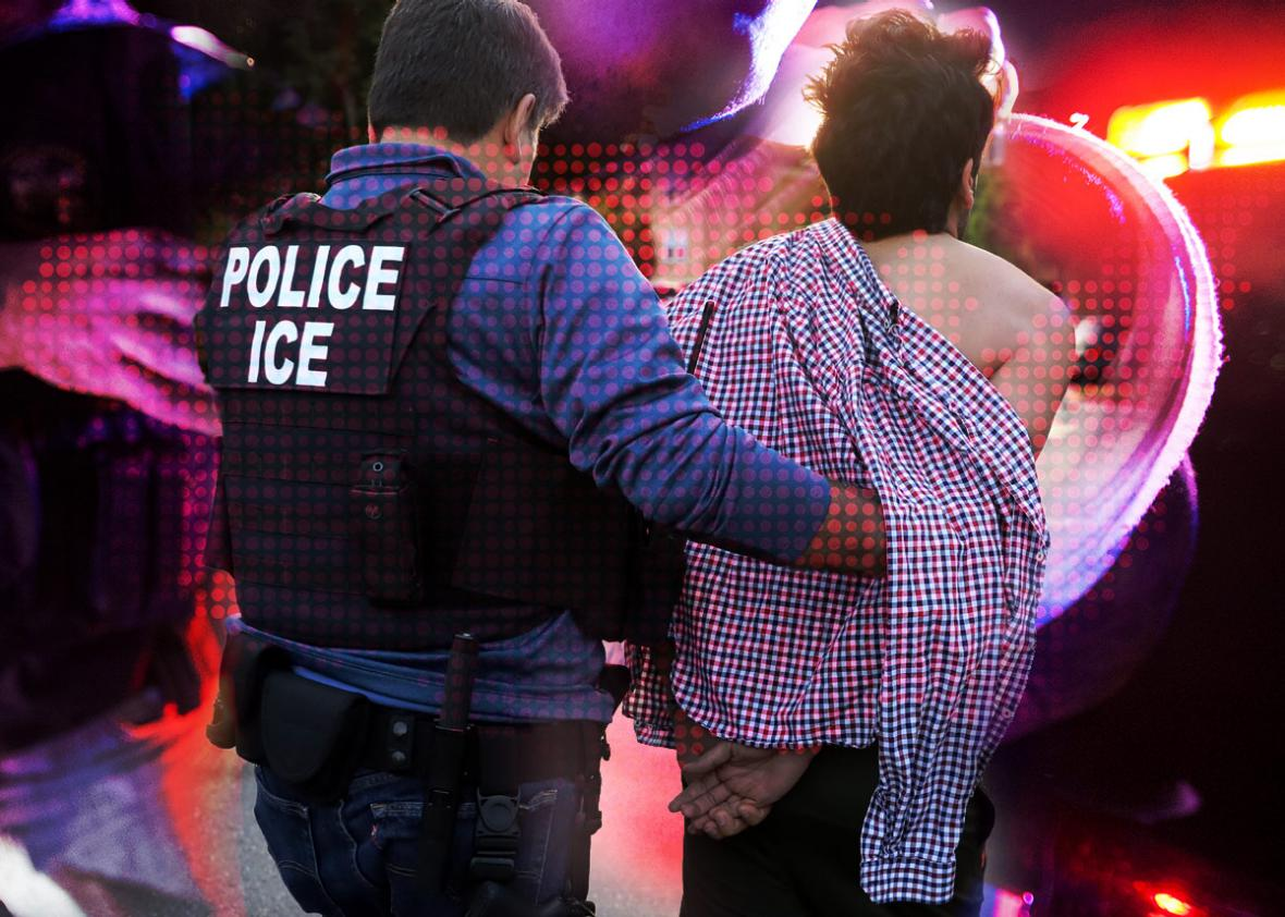 Photo illustration by Natalie Matthews-Ramo. Photos by Thinkstock, Lucy Nicholson/Reuters and U.S. Immigration and Customs Enforcement/Handout via Reuters.