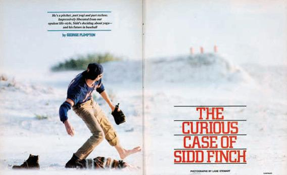 "Article 'The Curious Case of Sidd Finch' From ""SI."""