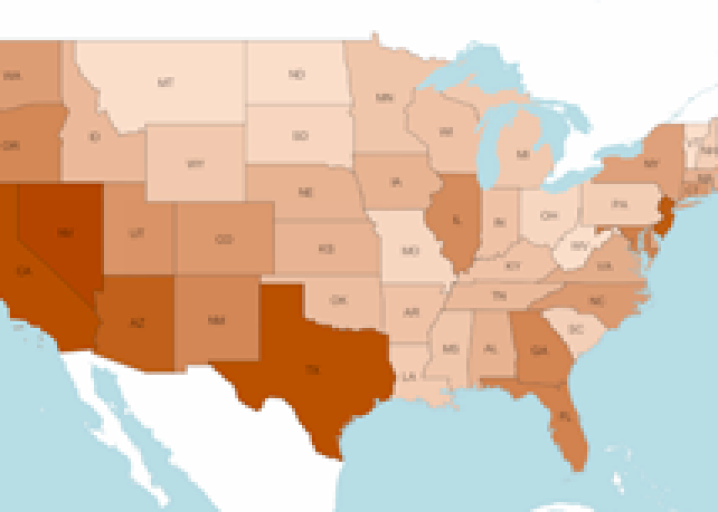 Immigrants By State Map.Map Illegal Immigrant Population By State