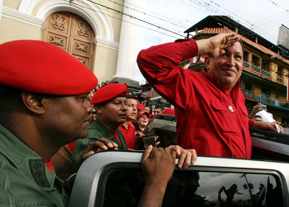 Venezuela's President Hugo Chavez greets supporters during a campaign rally with local candidates for the national assembly in the state of Tachira September 5, 2010. Venezuelans are going to the polls September 26 to elect a new national assembly.