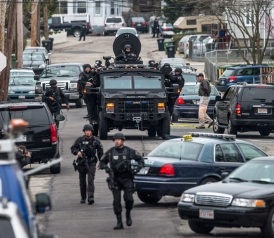 Photos From the Manhunt in Boston