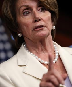 Nancy Pelosi answers questions during her weekly news conference at the U.S. Capitol last week in Washington, DC.