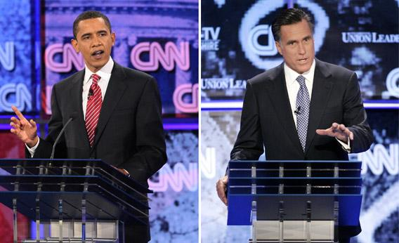Obama and Romney debating