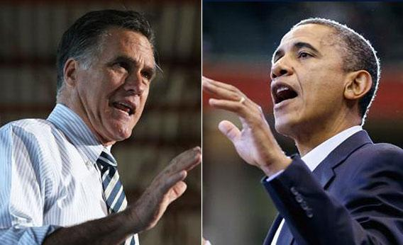 U.S. President Barack Obama and Republican presidential candidate, former Massachusetts Gov. Mitt Romney.