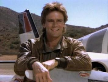 Richard Dean Anderson as Angus MacGyver in the ABC series MacGyver.