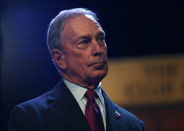 New York Mayor Michael Bloomberg pauses after speaking to the Economic Club of New York in what is being billed as his last major speech as Mayor of New York City.
